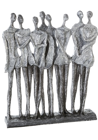 Casablanca by Gilde Dekofigur »Skulptur Mädelsabend, antik silberfarben«, Dekoobjekt,... kaufen