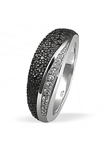 goldmaid Silberring, Silber 925 weiße und schwarze Zirkonia Pavee kaufen