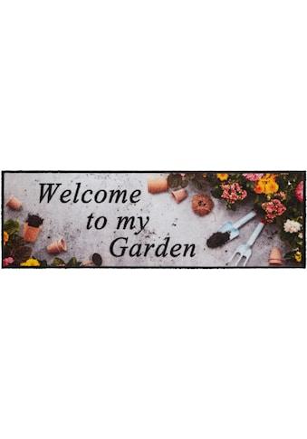 Läufer, »Welcome To My Colorful Garden«, HANSE Home, rechteckig, Höhe 5 mm, maschinell gewebt kaufen