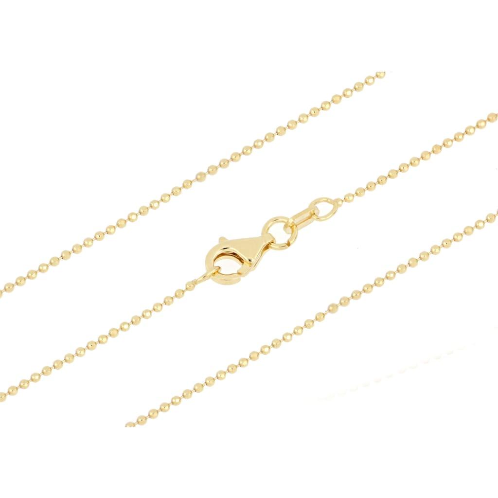 Firetti Kette ohne Anhänger »Kugelkettengliederung, diamantiert, 0,9 mm breit«