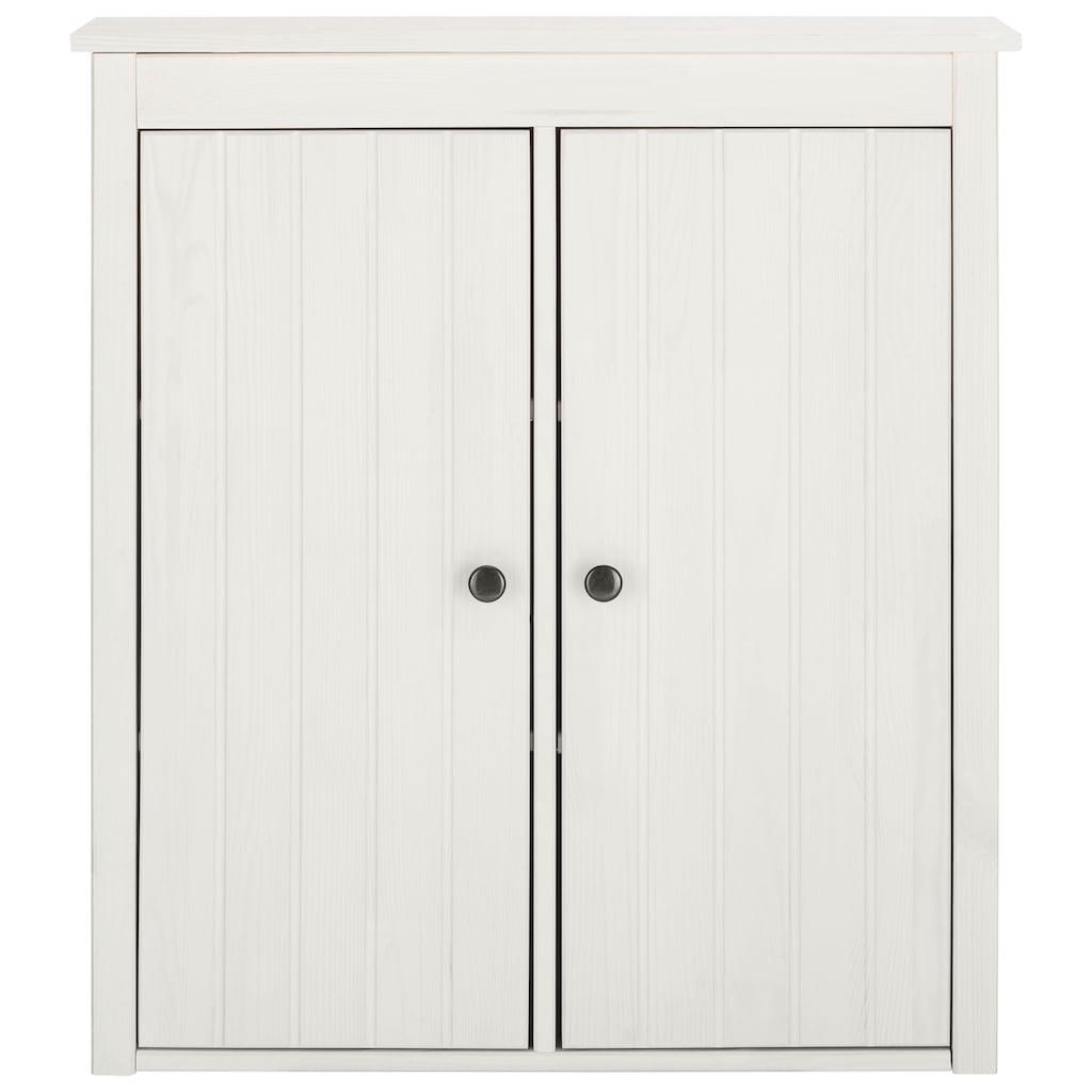 Home affaire Hängeschrank »Westa«, Breite 62 cm, Badezimmerschrank aus Massivholz, Kiefernholz, Metallgrife, 2 Türen, viel Stauraum