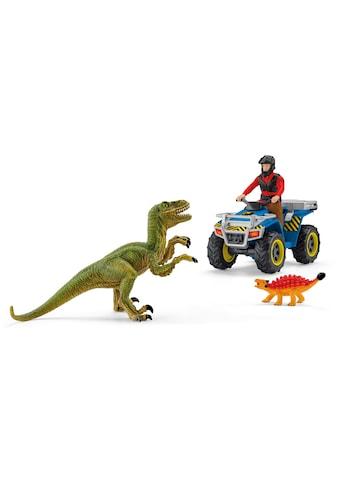 Schleich® Spielzeug-Quad »Dinosaurs, Flucht auf Quad vor Velociraptor (41466)«, Made... kaufen