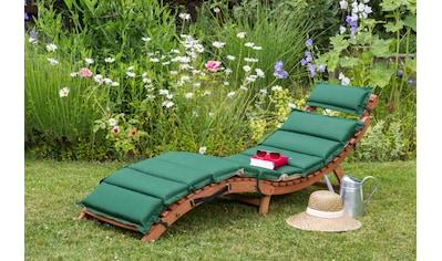 MERXX Gartenliege »Ipanema«, Eukalyptusholz, klappbar, inkl. Auflage kaufen