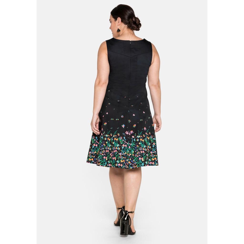 Sheego Cocktailkleid, mit floralem Alloverprint