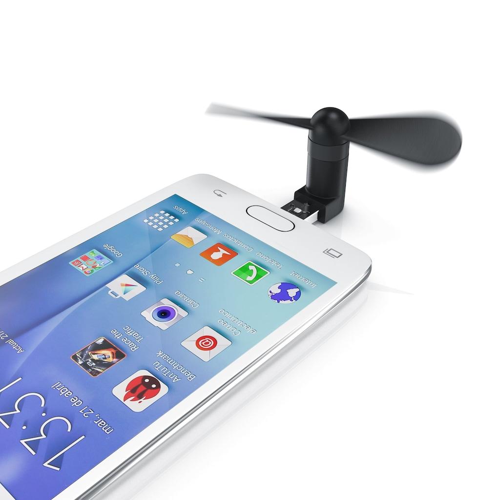Aplic Mini USB-Ventilator für Handy, Smartphone, Powerbank, PC etc.