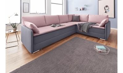 INOSIGN Ecksofa »Dream«, mit Federkern, mit Bettfunktion und Bettkasten kaufen