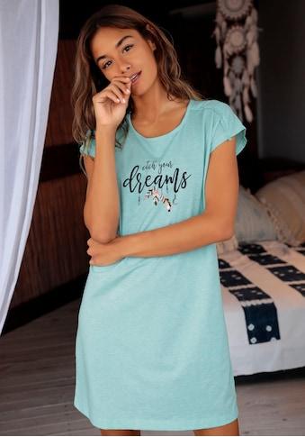 Vivance Dreams Nachthemd, mit Fransenborte an der Schulter kaufen