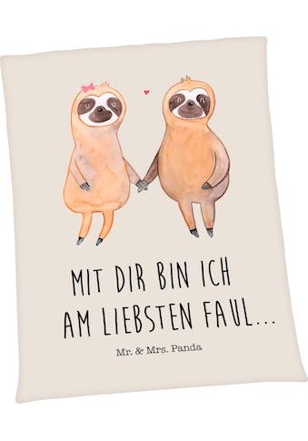 Wohndecke »Well-Soft-Decke Mr. & Mrs. Panda«, mit liebevollem Schriftzug kaufen