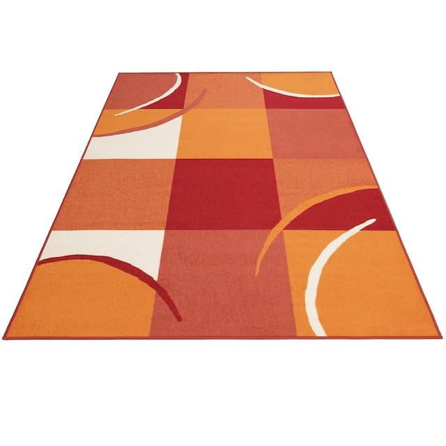 THEKO Teppich »Marco«, rechteckig, 6 mm Höhe, Kurzflor, mit Karomuster, Wohnzimmer