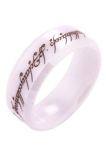 Der Herr der Ringe Fingerring »Der Eine Ring - Keramik weiß, 20003816«, Made in Germany kaufen