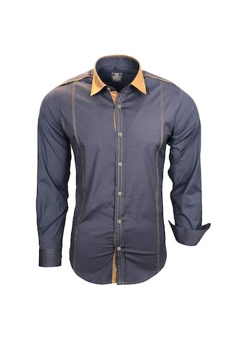 Rusty Neal Freizeit-Hemd mit farblich abgesetztem Kragen kaufen