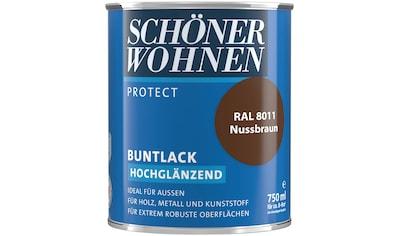 SCHÖNER WOHNEN-Kollektion Lack »Protect Buntlack«, hochglänzend, 750 ml, nussbraun RAL... kaufen