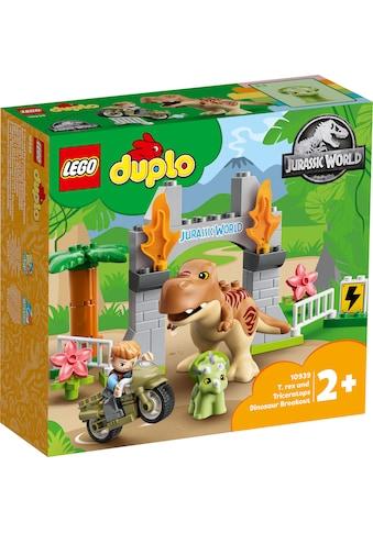LEGO® Konstruktionsspielsteine »Ausbruch des T. rex und Triceratops (10939), LEGO®... kaufen