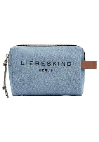 Liebeskind Berlin Kosmetiktasche »Gray Denim Cosmetic Pouch S«, in schicker Jeansoptik kaufen