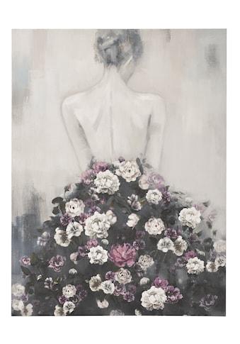 Bild Frau mit Rosenkleid kaufen