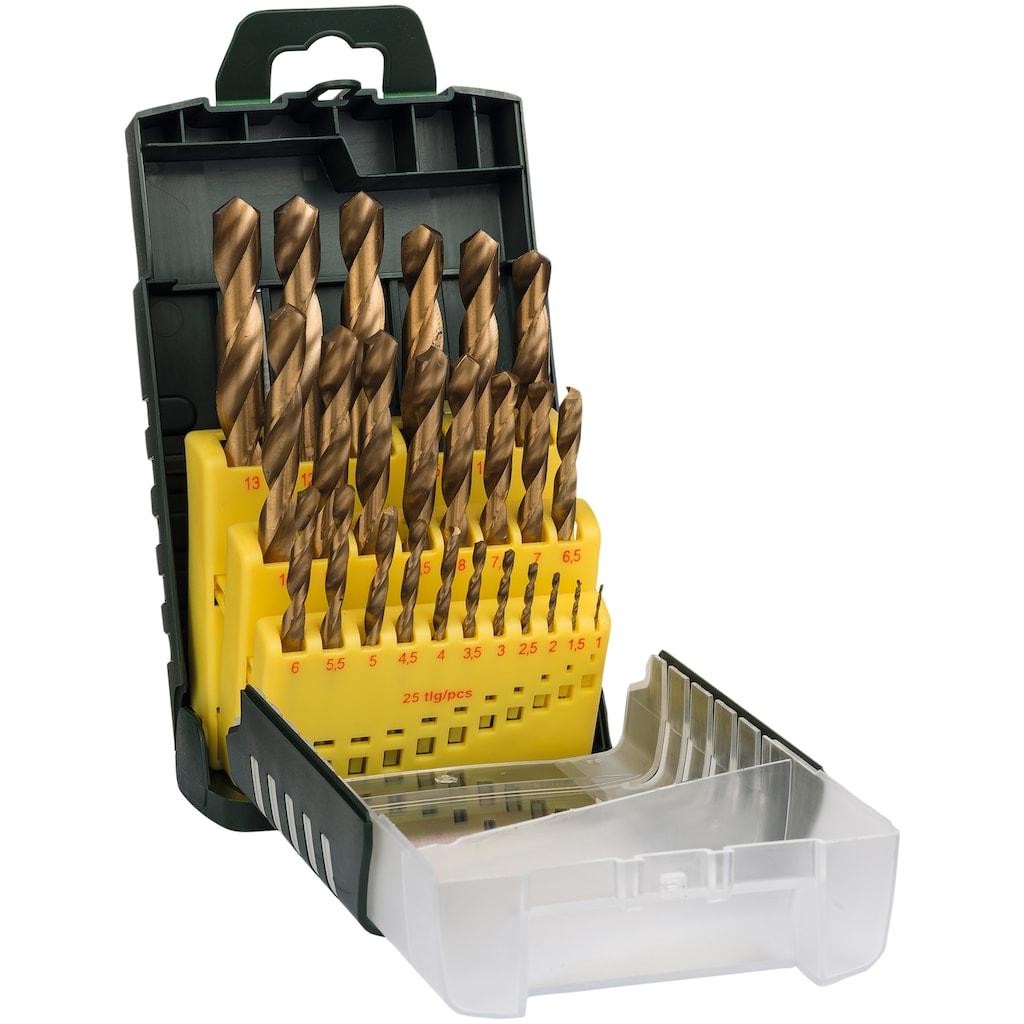 BOSCH Bohrersatz, (Set, 25 tlg.), HSS-TiN-Metallbohrer