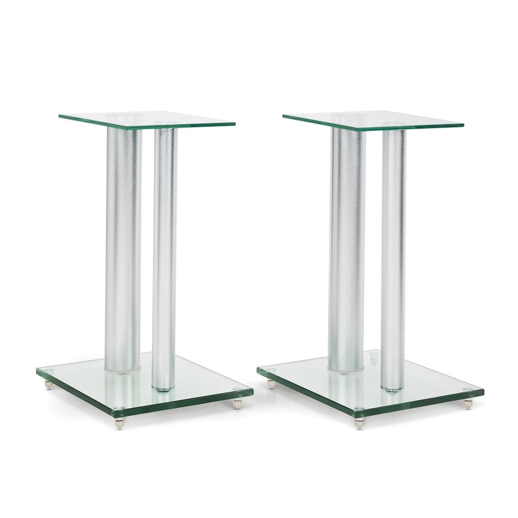 Auna Paar Boxenständer Glas Aluminium <10kg belastbar »BS28«