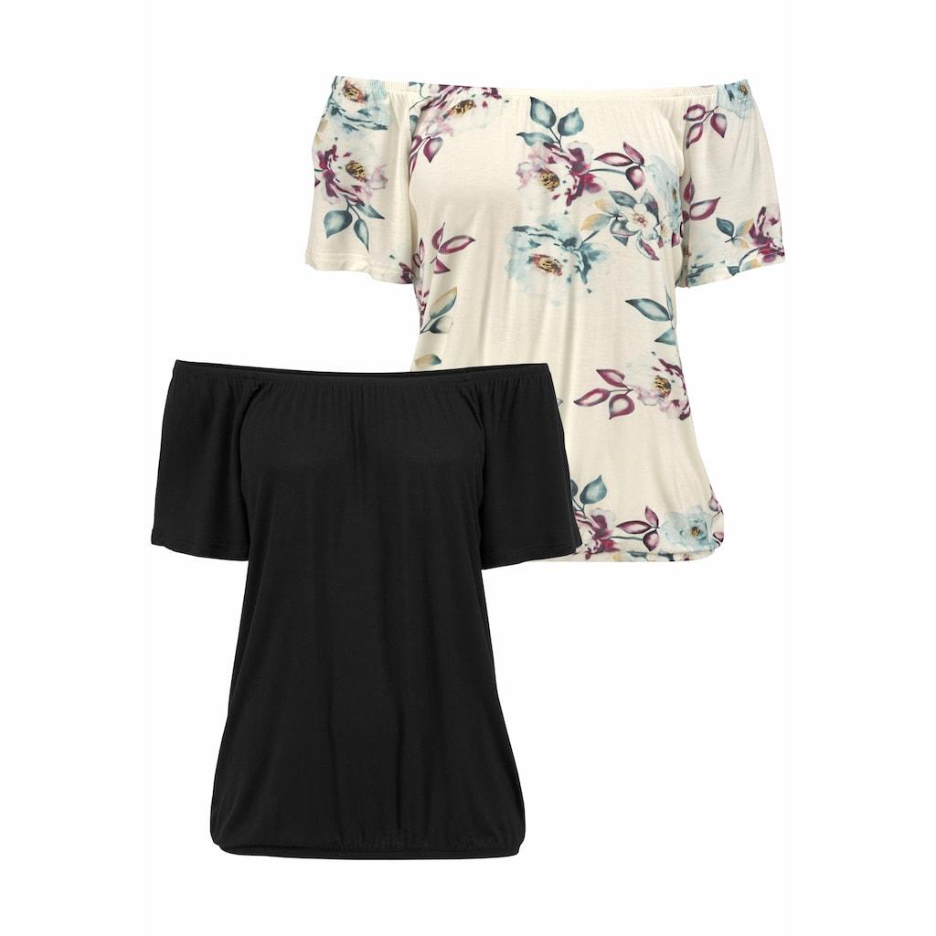 LASCANA Carmenshirt, variabel zu tragen