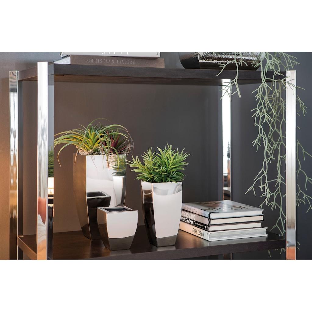 Fink Übertopf »CUBE, silberfarben«, (1 St.), dekorativer Blumentopf, aus Metall, hochwertige Verarbeitung, In- und Outdoor geeignet, Wohnzimmer