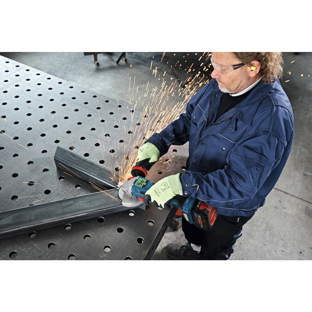 Bosch Professional Akku-Winkelschleifer »GWS 18V-15 SC Professional«, leistungsstark, mit 2 Akkus und Ladegerät