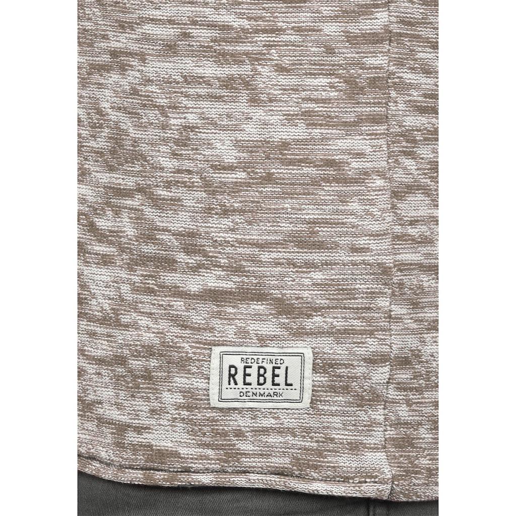 REDEFINED REBEL Rundhalspullover »Millard«, Strickpulli in Melange-Optik