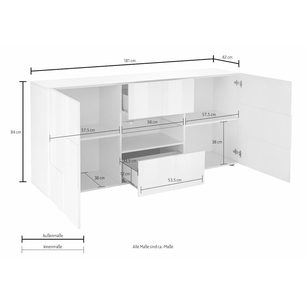 LC Sideboard »Dama«, Breite 181 cm