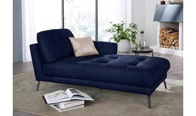 W.SCHILLIG Chaiselongue »softy«, mit dekorativer Heftung im Sitz, Füße schwarz... kaufen