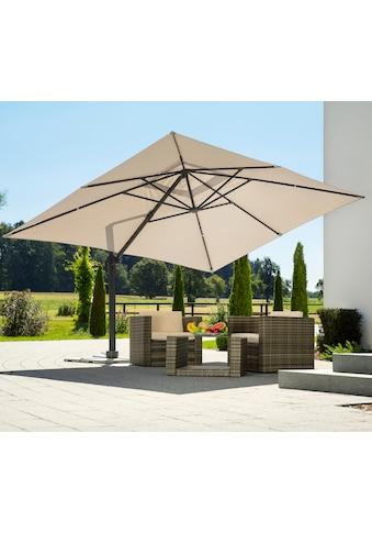Schneider Schirme Ampelschirm »Rhodos Grande«, natur, rechteckig, ohne Wegeplatten kaufen