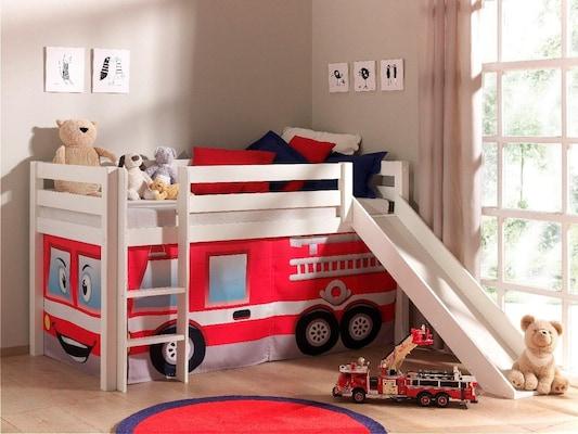 Feuerwehrbett mit Rutsche