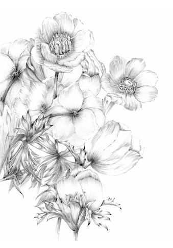 Komar Fototapete »Embroidery«, bedruckt-floral-botanisch kaufen