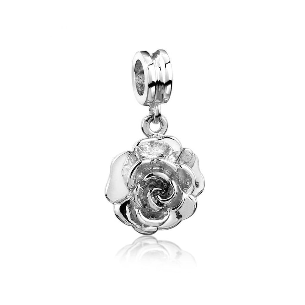 Nenalina Bead »Bead Anhänger Rose Blume Floral Blüte 925 Silber«
