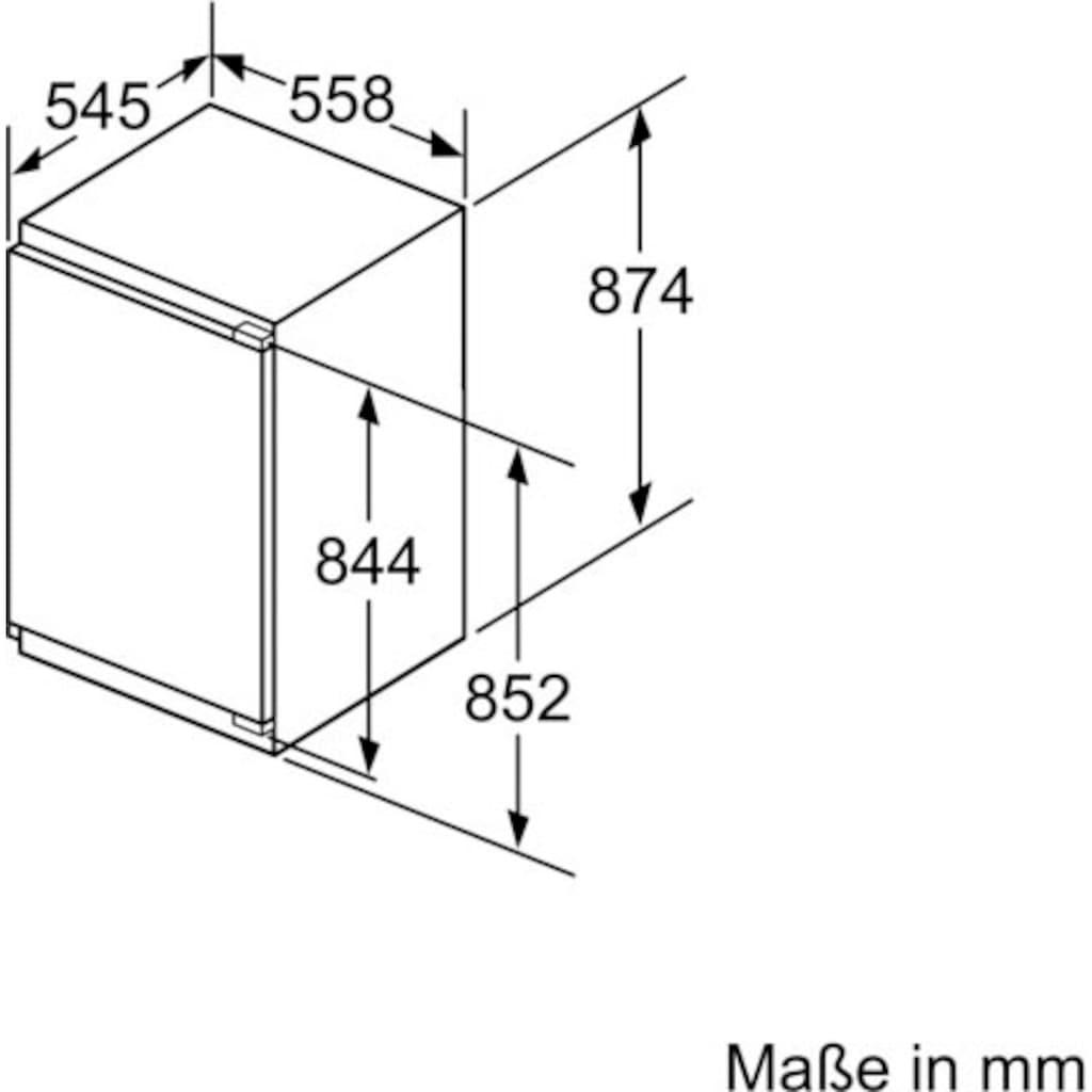 BOSCH Einbaugefrierschrank »GIV21ADD0«, 6, 87,4 cm hoch, 55,8 cm breit