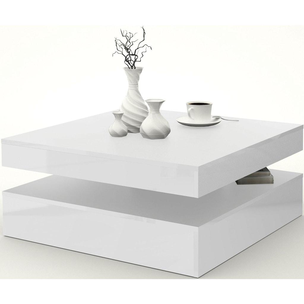 FORTE Couchtisch, mit Funktion, drehbare Tischplatte