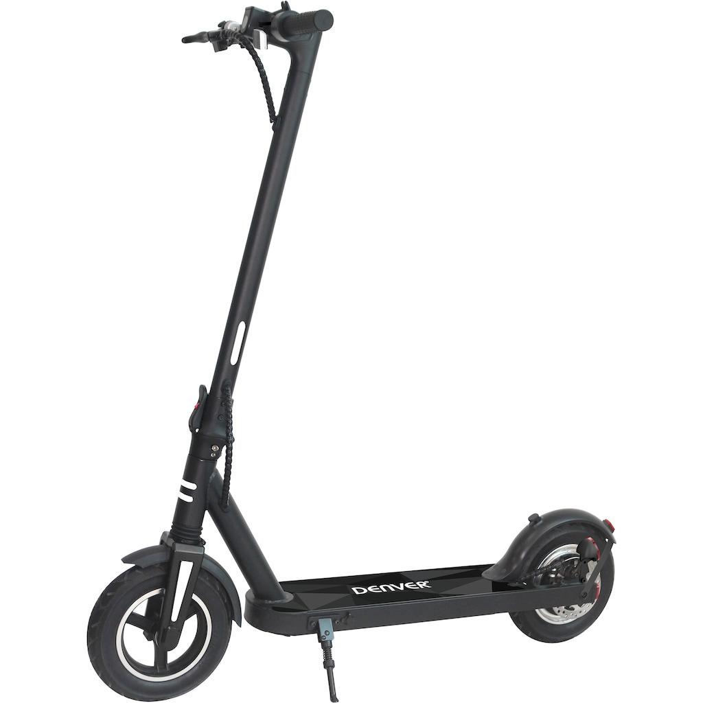 Denver E-Scooter »SEL-10500«, Scheibenbremse und elektrische Bremse am Hinterrad IPX4 - Schutz gegen allseitiges Spritzwasser Luftreifen vorn