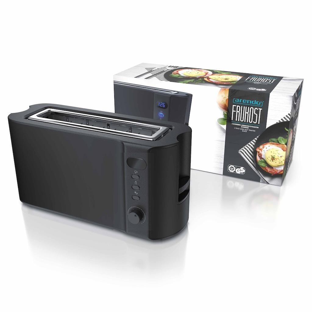 Arendo Toaster »Frukost Black 1000W«, 1000 W