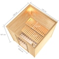 Karibu Sauna »Jacky«, ohne Ofen