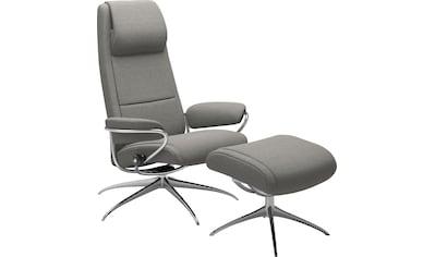 Stressless® Relaxsessel »Paris«, mit Hocker, High Back, mit Star Base, Gestell Chrom kaufen