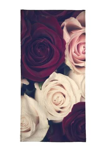 Juniqe Handtuch »Rose Bouquet«, (1 St.), Weiche Frottee-Veloursqualität kaufen