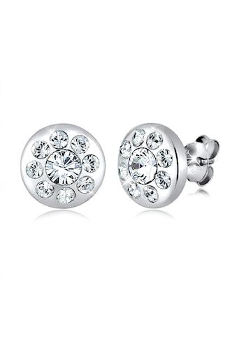 Elli Paar Ohrstecker »Kreis Elegant Kristalle Funkelnd Silber« kaufen