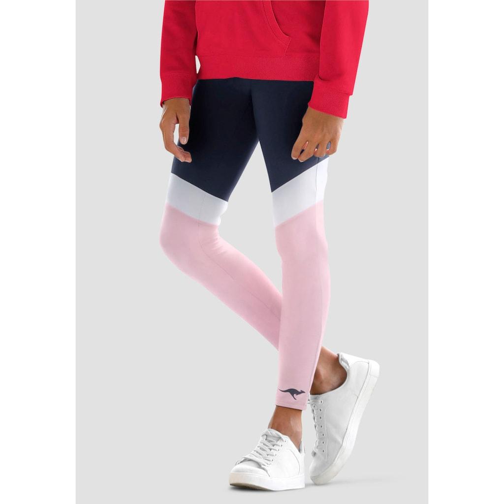 KangaROOS Leggings, mit schönen Kontrasteinsätzen