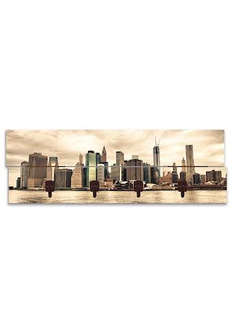 Artland Garderobenpaneel »Lower Manhattan Skyline«, platzsparende Wandgarderobe aus... kaufen