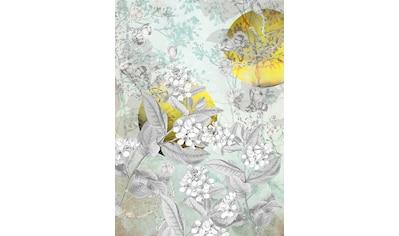 Komar Fototapete »Golden Sun«, floral-schimmernd-Silber-Optik kaufen