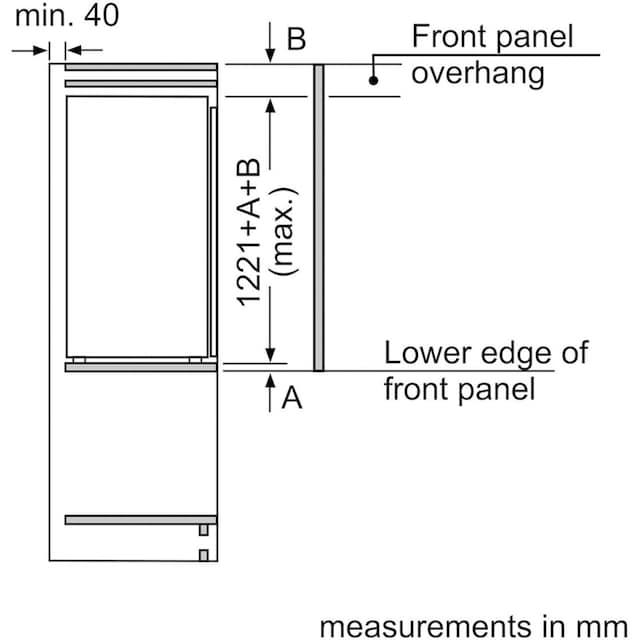 BOSCH Einbaukühlschrank, 122,1 cm hoch, 55,8 cm breit