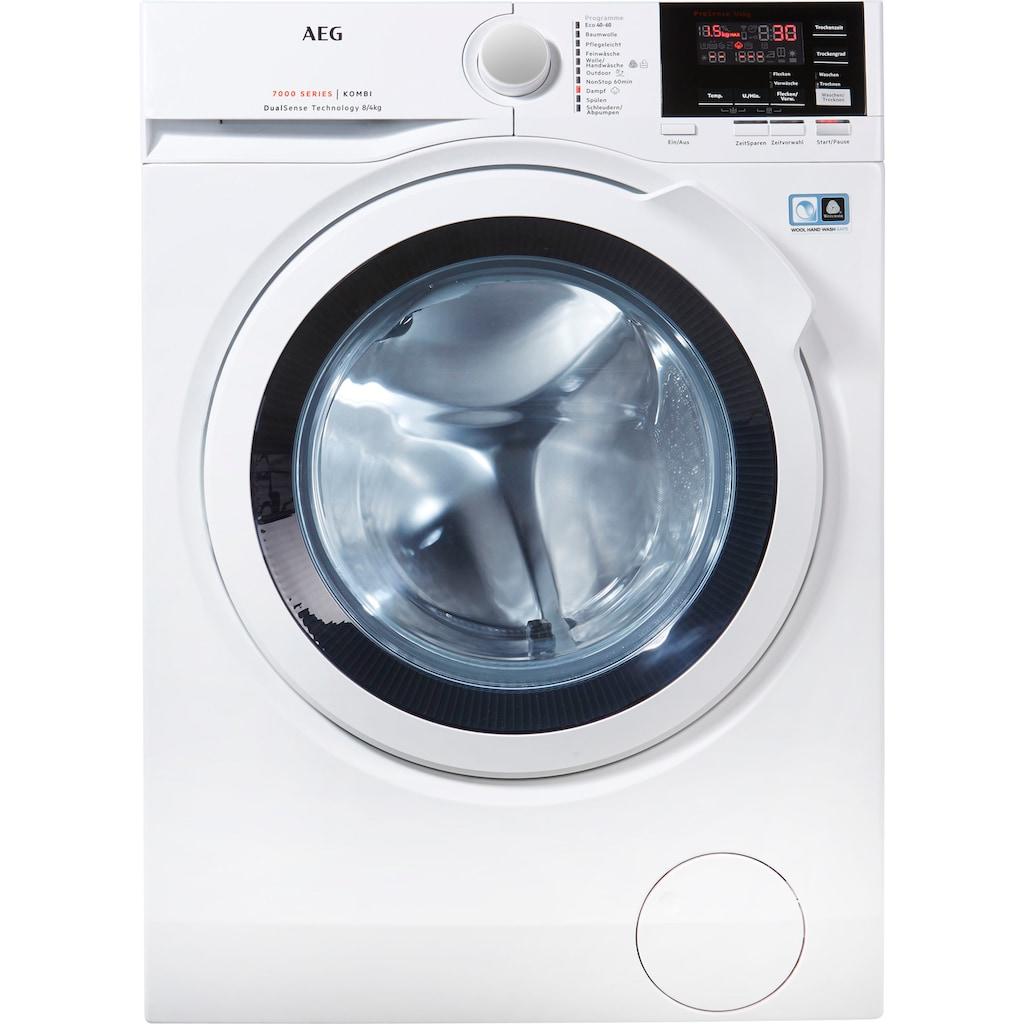 AEG Waschtrockner »L7WB58WT«, mit DualSense für schonende Pflege, 4 Jahre Herstellergarantie