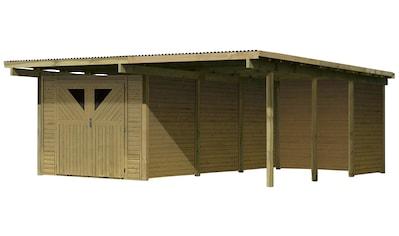 KARIBU Set: Doppelcarport »Eco 2«, BxT: 563x676 cm kaufen