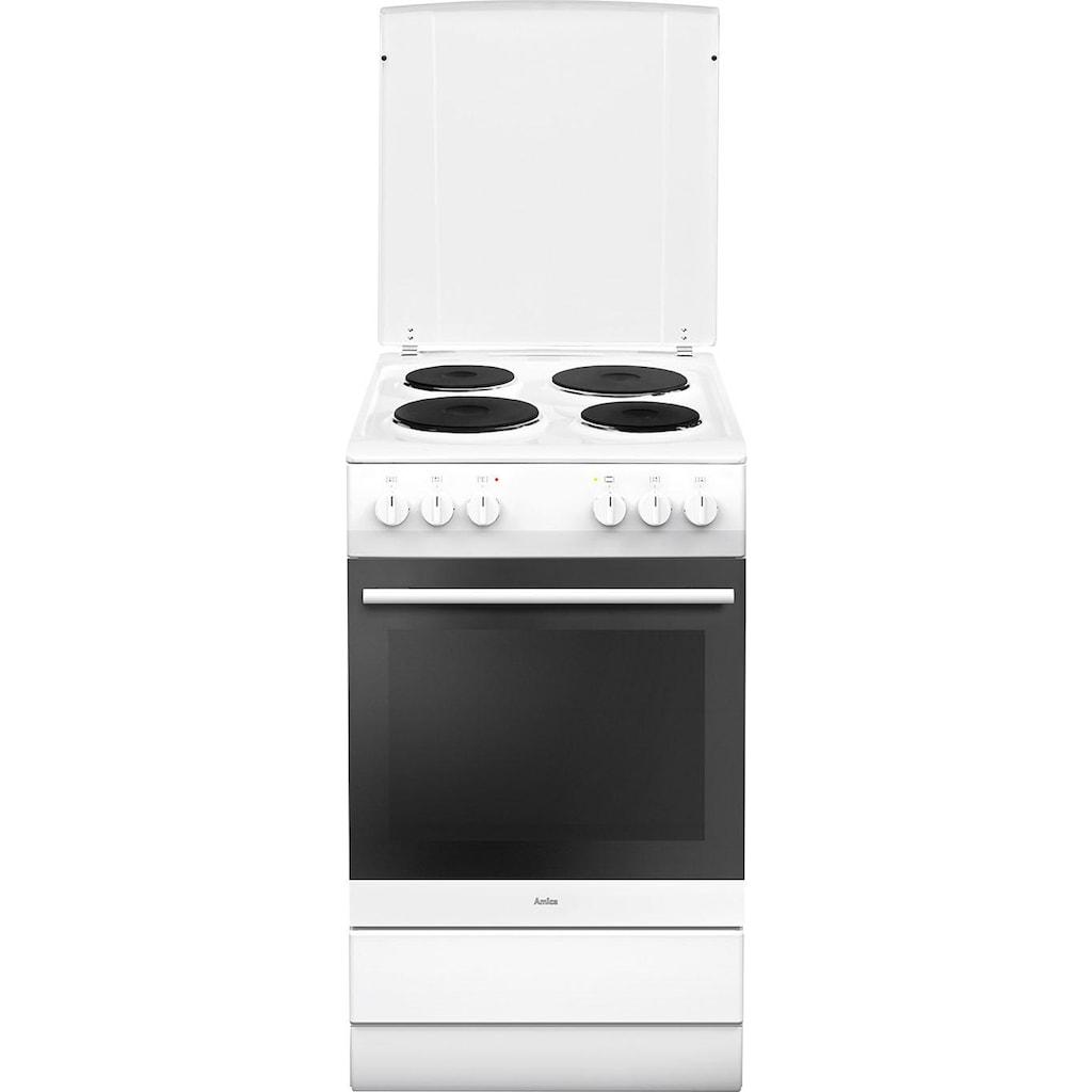 Amica Platten-Standherd »SHE 11555 W«, SHE 11555 W, Steam Clean, SteamClean