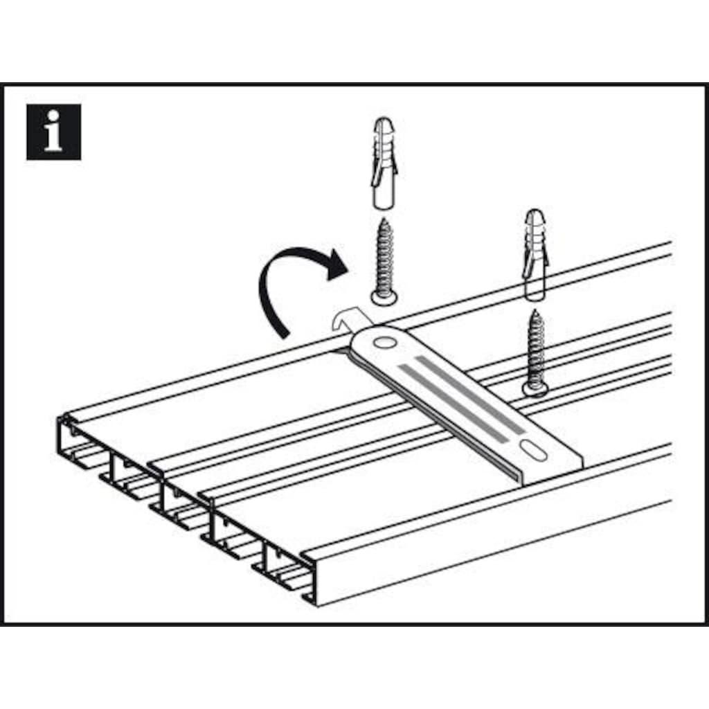 GARDINIA Gardinenstangenhalter »Deckenträger 3-laufig«, (1 St.), Serie Flächenvorhang Technik Atlanta