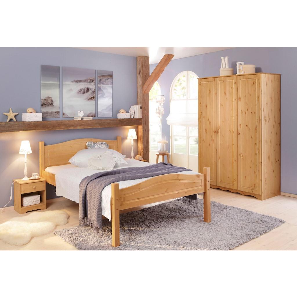 Home affaire Massivholzbett »Bolton«, aus schönem massivem Kiefernholz, in unterschiedlichen Größen und Farben