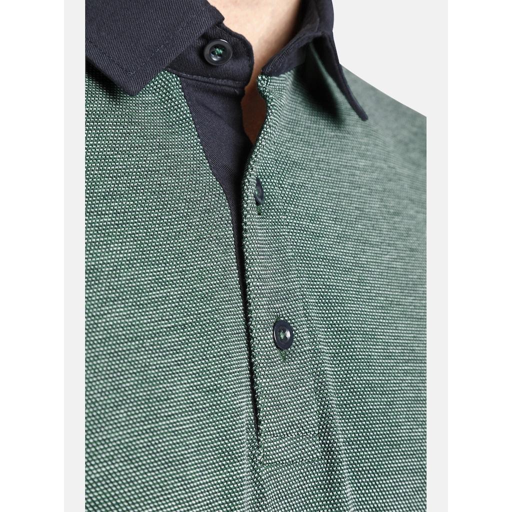 Charles Colby Langarm-Poloshirt »DUKE EDGAR«, aus dreifarbigem Pikee