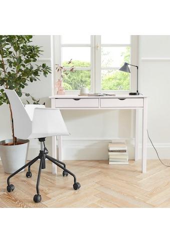 my home Schreibtisch »Gava«, aus massiven Kiefernholz, mit Griffmulden und praktische... kaufen